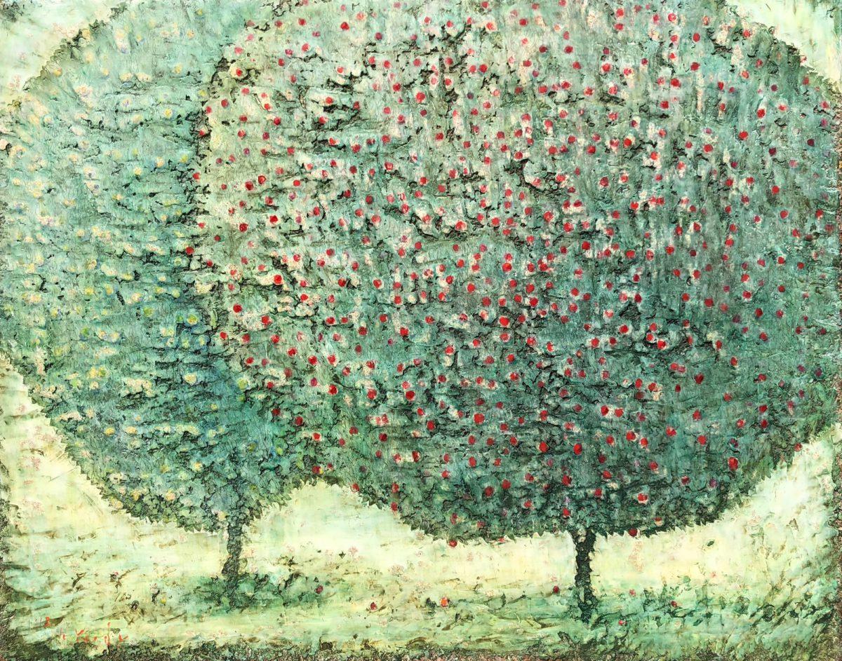 赤と青の林檎の木